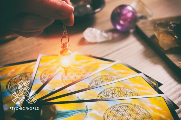 crystal point to the tarot card that needs to be picked