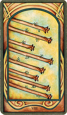 Card 1 - Eight of Wands