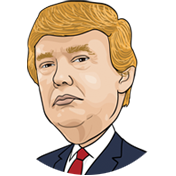Donal Trump cartoon