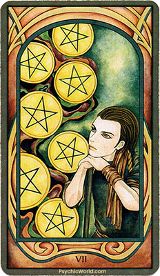 Card 3 - Seven of Pentacles