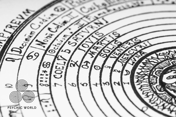 astrology black and white circle chart