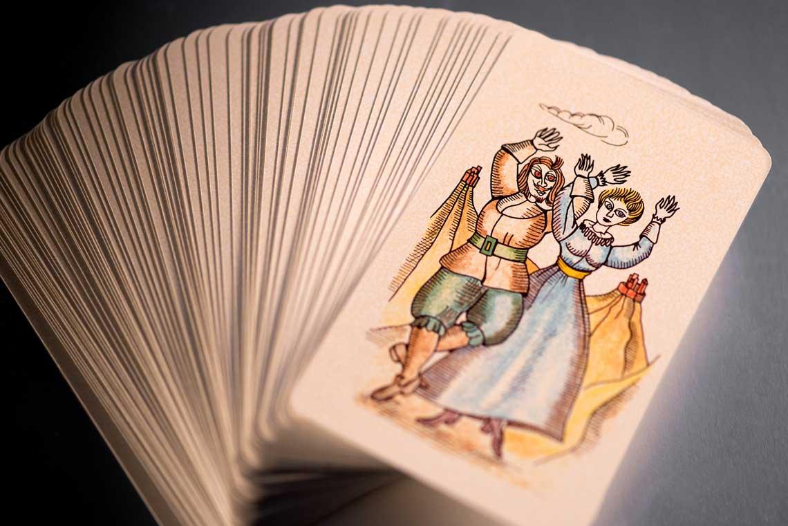 fanned a deck of tarot cards